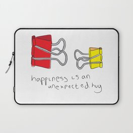 Happiness is an unexpected hug Laptop Sleeve