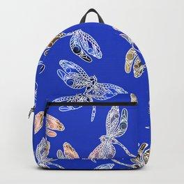 Dragonflies Blue Backpack