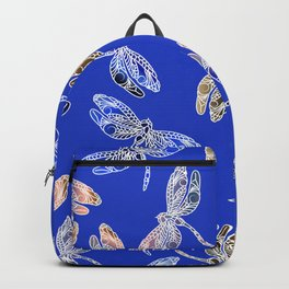 Dragonflies Blue Backpack