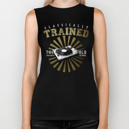 Classically Trained Vinyl Player Biker Tank