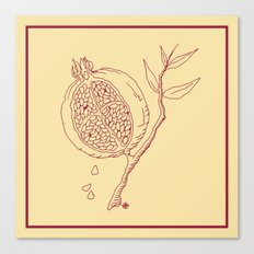 Golden Pomegranate Canvas Print