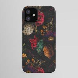 Midnight Hours Dark Vintage Flowers Garden iPhone Case