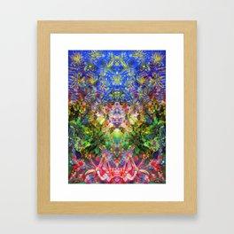 Floral Diving Framed Art Print