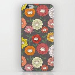 Talking Garden (gray) iPhone Skin