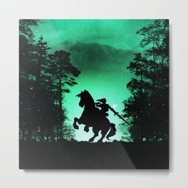 ZELDA-LINK Metal Print