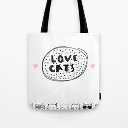 Love Cats Tote Bag