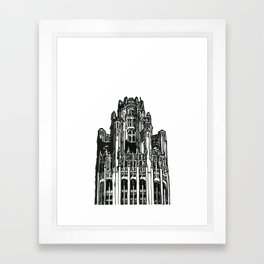 Triptych 3 - Tribune Tower - Original Drawing Framed Art Print