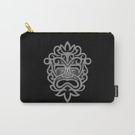 Stylish Gray and Black Mayan Mask Carry-All Pouch