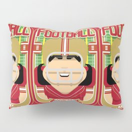 American Football Red and Gold -  Hail-Mary Blitzsacker - Amy version Pillow Sham