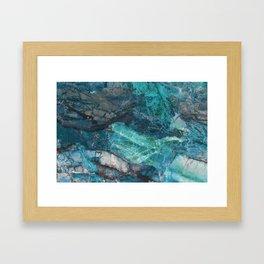Cerulean Blue Marble Framed Art Print