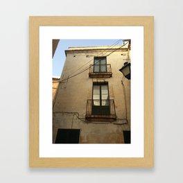 Apartment Windows Framed Art Print