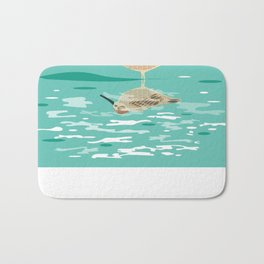 Sandpiper Reflection  Bath Mat