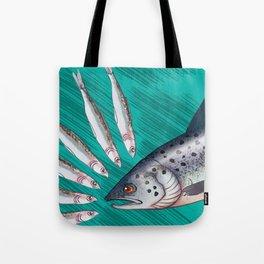 Fish Face-off Tote Bag