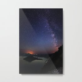 Crater Lake Galaxy Metal Print