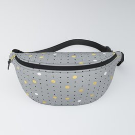 Pin Points Grey, Gold and White Fanny Pack