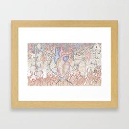 Heart of a warrior Framed Art Print