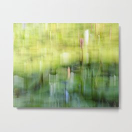 Tropical Impressionism - Lily Pond Metal Print