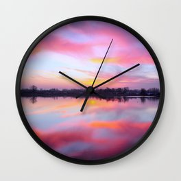 Sunset Lake Wall Clock