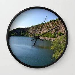 Flooded Quarry Wall Clock