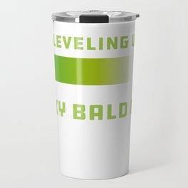Mens Sexy Bald Guy design Bald Hair design Slogan Travel Mug