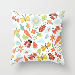 Kids Insects Throw Pillow