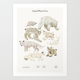 Shelter 2 - Animal Winter Coats Art Print
