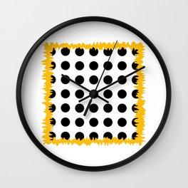 Black - White - Yellow Wall Clock