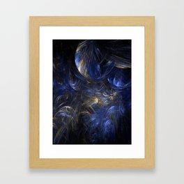 Blue n Gold Framed Art Print