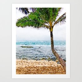 Maui Palm Tree Art Print