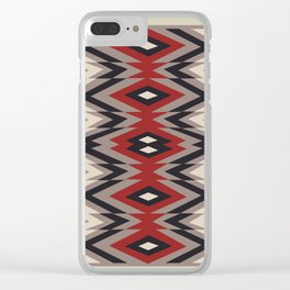 American Native Pattern No. 162 Clear iPhone Case