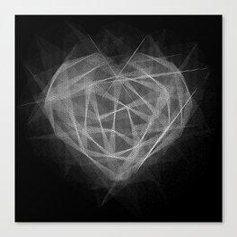 Coração Transcrito 2 Canvas Print