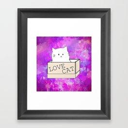 cat-11 Framed Art Print