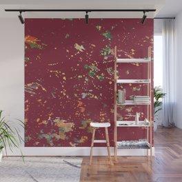 Cranberry Red Bohemian Fiber Art Wall Mural