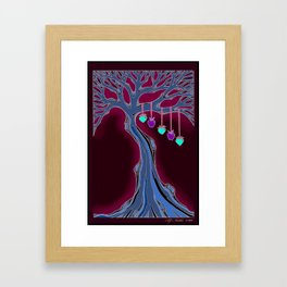 "Family Tree ""Cool Colors"" Framed Art Print"