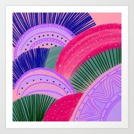 Curves Pink Art Print