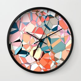 Jumble of Shapes And Colors Wall Clock