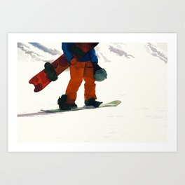 Ready to Ride! - Snowboarder Art Print