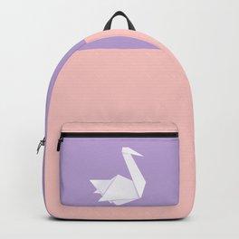 White origami swan Backpack