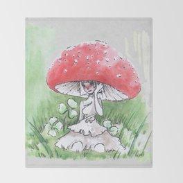 Empire of Mushrooms: Amanita Muscaria Throw Blanket