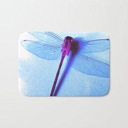 Iridescent Dragon Fly - Digital Photography Art Bath Mat