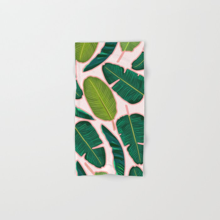 Banana Leaf Blush #society6 #decor #buyart Hand & Bath Towel