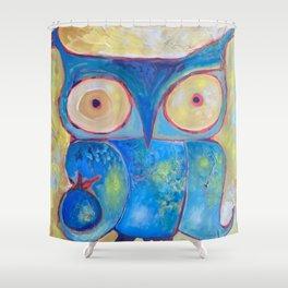 Blue Owl Shower Curtain