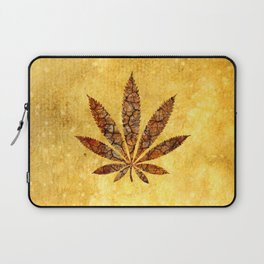 Vintage Cannabis Leaf Laptop Sleeve