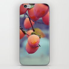 Persimmons in the Rain iPhone Skin