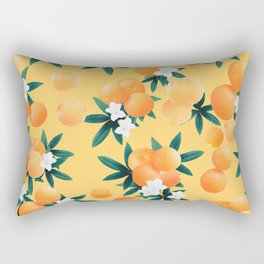 Orange Twist Flower Vibes #3 #tropical #fruit #decor #art #society6 Rectangular Pillow