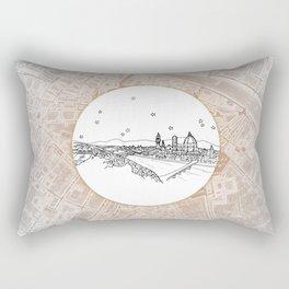 Florence (Firenze), Italy, Europe City Skyline Illustration Drawing Rectangular Pillow