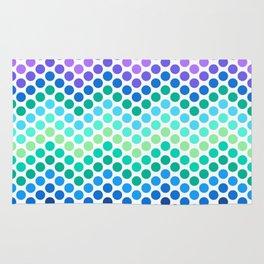 Dot Chevron: Blue Purple Rug