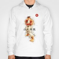 street fighter Hoodies featuring Street Fighter II - Ryu by Carlo Spaziani