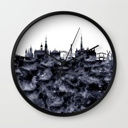 Amsterdam City Skyline Wall Clock