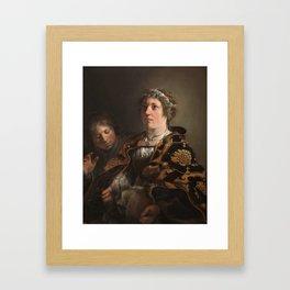 BRAY, SALOMON DE Amsterdam, 1597 - Haarlem, 1664 Judith offering the Head of Holofernes 1636. Framed Art Print